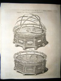 Astronomy C1790 Antique Print. The Grand Orrery by Rowley 87